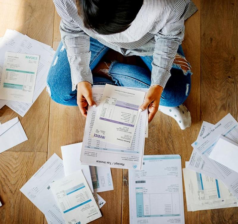 Over Head in Debt